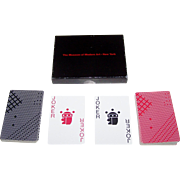 "SOLD Double Deck Piatnik ""Takenobu Igarashi"" Playing Cards, Museum of Modern Art Publisher"