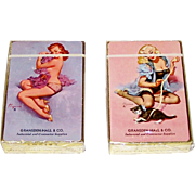"2 Decks Brown & Bigelow ""Gransden-Hall & Co."" Advertising Pin-Up Playing Cards, Gil Elvgre"