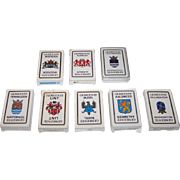"8 Decks Carta Mundi ""Gemeente"" (""Town"") Playing Cards and Quartet Cards, Defka Publish"