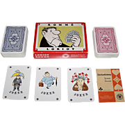 "Double Deck ASS ""Loriot"" Playing Cards, Vicco von Bülow (aka ""Loriot"") Designs, c.197"