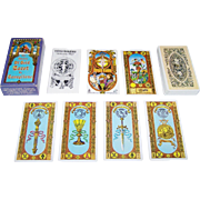 """SOLD AG Muller """"Tavaglione Tarot: Stairs of Gold,"""" U.S. Games Publisher, Giorgio Tavaglion"""