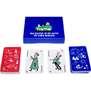 "Double Deck Carta Mundi ""Tintin"" Playing Cards, Hergé (Georges Remi) Designs"