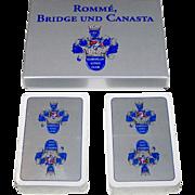 "Double Deck ASS ""European Kings Club"" Playing Cards, Standard Berlin Pattern, c.1992"