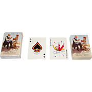 """Brown & Bigelow """"Connie Mack"""" Playing Cards, Bill Medcalf Design, c.1953"""