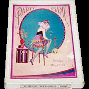 """Bridge Wedding Party Game,"" Dennis ""Dainty Series"" G676, Art Deco Illustration, c.193"