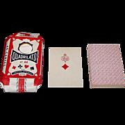"Leonard Bierman's ""Quadrilato No. 44"" Playing Cards, For Tunisia, c.1950"
