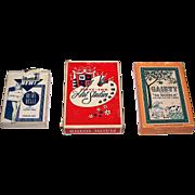 "3 Decks of Pin-Up Playing Cards, $10/ea.: (i) USPC ""Beaux Belle"", c.1950s; (ii) Novelties"