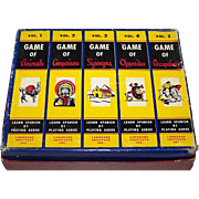 """Language Institute, Inc. """"Learn Spanish by Playing Cards"""" Games, Full Set of 5 Games (Anim"""