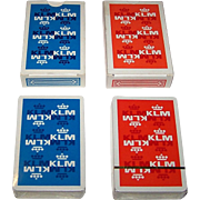 "Twin Decks Carta Mundi ""KLM"" Playing Cards, Max Velthuijs Designs, c.1970s"