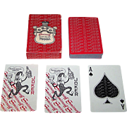 "Heublein, Inc. ""Smirnoff"" Advertising Playing Cards, Maker Unknown, Cuban Television Stars"