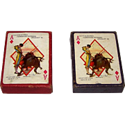"Twin Decks Offset-Latina ""Baraja Taurino"" Playing Cards, Carlos Ruano Llopis Designs, Firs"
