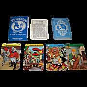 """SOLD Il Meneghello """"Pinocchio"""" Quartet Card Game, Beppo Gar Designs"""