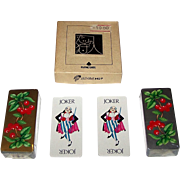 """Double Deck Angel """"Roaring 20's"""" Oblong Patience Playing Cards, c.1980"""