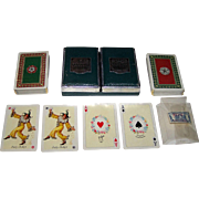"Double Deck Piatnik ""Tudor Rose"" Playing Cards, Prof. Kuno Hock Designs, c.1950s"