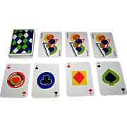 """ASS """"Simultané"""" Playing Cards, Sonia Delaunay Designs, c.1980"""