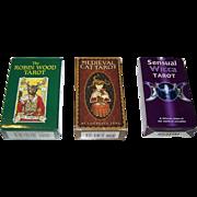 """3 Sets of Tarot Cards, $15/ea.: (i) Llewellyn Publications """"Robin Wood Tarot""""; (ii) U.S. G"""