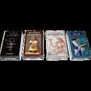 4 Sets Lo Scarabeo Tarot Cards, $15/ea.: (i) Ludy Lescot Tarot; (ii) Rameses Tarot of Eternity