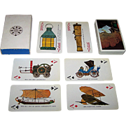 """Nintendo """"Industrial Bank of Japan"""" Playing Cards, History of the Automobile Designs, c .."""