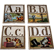 "Hand-Painted ""Russian America"" (?) Alphabet Cards, Maker and Artist Unknown, c.1850 (?)"