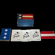 "Nintendo ""Fitz and Floyd"" Playing Cards (+ 2 Jokers) w/ Custom Painted Wood Box, Jasper .."