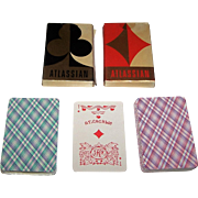 """Twin Decks Russia State Printing Works """"Atlassian"""" Playing Cards, 36-Card Decks, c. 1980s,"""