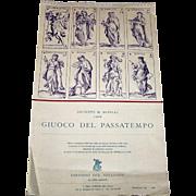 """Editioni del Solleone """"Giuoco del Passatempo"""" 1980 Calendar, Giuseppe M. Mitelli Designs ["""