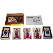 "SOLD Double Deck Piatnik ""Saga"" Playing Cards, Atelier Korecky Designs, c.1978"