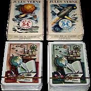"Twin Decks Grimaud ""Jules Verne"" Playing Cards, Jean Bruneau Designs, c.1978, $15/ea."