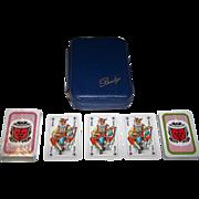 """Double Deck Coeur """"Vinimpex"""" Playing Cards Bridge Set, c.1982"""