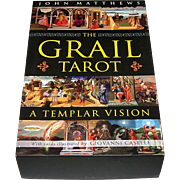 "St. Martin's Press ""The Grail Tarot: A Templar Vision"" Tarot Cards w/ Book, John Matthew"