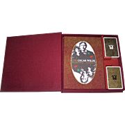 "Special Limited Edition Double Deck Grimaud ""Oscar Wilde"" Playing Cards, w/ Accompanying ."