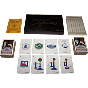 "De La Rue ""Electrical Mah Jong"" Set, Made for Western Electric Co., Ltd., 1924 British ..."