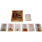 """J.H. Singer """"Cards of Fate"""" Fortune Telling Cards, Lenormand Type, c.1885"""