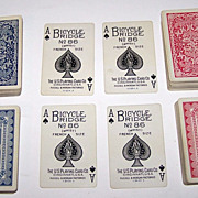SOLD 2 Double Decks USPC (Russell & Morgan) Playing Cards (52/52 NJ), Different Backs, $10