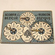 """USPC """"Scorer for Bezique and Rubicon Bezique,"""" c.1899"""