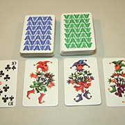 "SOLD Double Deck Coeur ""Gracia"" (""Grace"") Playing Cards, Hannelore Heise Designs, c.19"