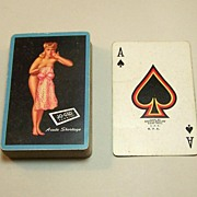 "Brown & Bigelow ""Acute Shortage"" Pin-Up Playing Cards, ""Jo-Glo Fabrics"" Adv., Earl Mor"