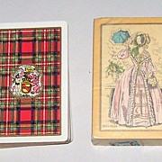 "2 Decks USPC Congress 606 Playing Cards, $15/ea.: (i) ""Stewart"" (Scottish Clan) c.1928; (i"
