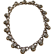 """""""TRIFARI"""" Gold Plated Choker Necklace with Clear Rhinestone Accents"""