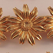 "SALE Delightful Daisy Demi featuring Brooch, Hairclip & Earrings signed ""KENZO PARIS"""