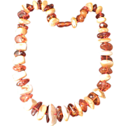 SALE Natural Large Chunky Amber Necklace