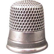 SOLD Sterling Thimble Size 8