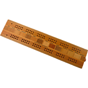Cribbage Board made from Native Timbers of New Zealand