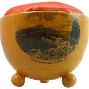 REDUCED Mauchline Ware Kettle Pin Cushion – Mount Mansfield, VT