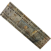 SOLD Soapstone Cribbage Board with Dragon