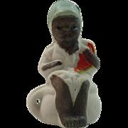 Vintage Black Americana Child on Chamber Pot