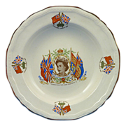 1953 Commemorative Plate of the Coronation of Queen Elizabeth II
