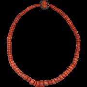 Antique Coral Trade Bead Necklace