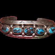 1950's Bisbee Turquoise Navajo Bracelet
