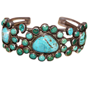 Battle Mountain Turquoise Cluster Bracelet